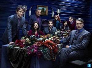 The cast of Hannibal digs in. (NBC)
