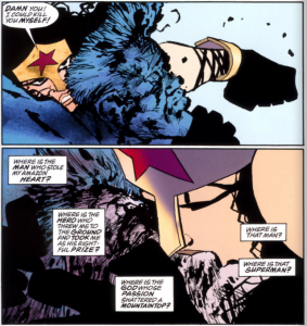 From Batman: The Dark Knight Strikes Again by Frank Miller