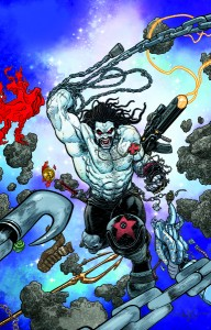 Cover to Justice League #23.2 (aka Lobo #1) due in September. Art by Aaron Kuder