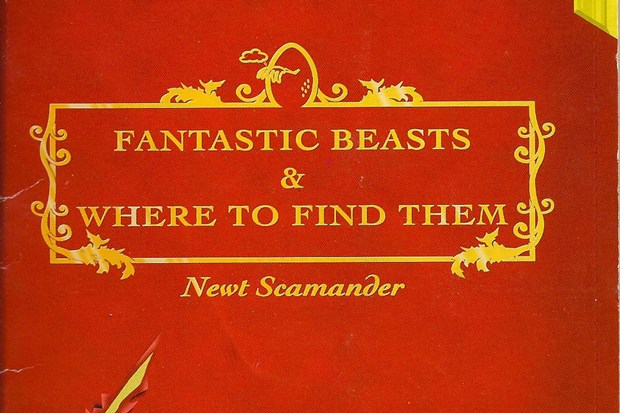 "US cover to the original ""textbook"" that will inspire the next Potterverse film."