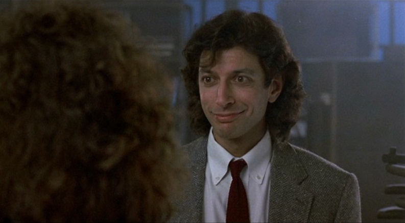 Seth Brundle (Jeff Goldblum) in The Fly