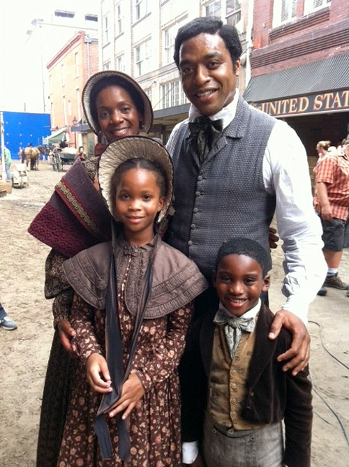 Quvenzhane Wallis, the adorable girl from Beasts of The Southern Wild, as Northrup's daughter.