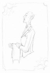 Alfred sketch by Jen Overstreet
