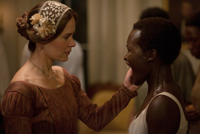 Sarah Paulson and Lupita N'Yongo, in one of the film's more quietly vicious scenes.