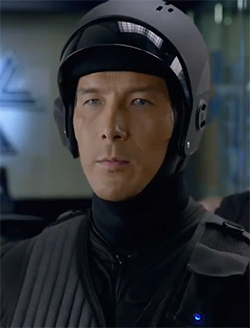 The MX-43s, the bland,  anonymous robocop drones, are played by a guy named Joe Smith. Figures, right?