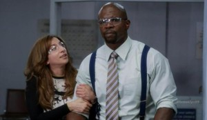 Chelsea Perretti and Terry Crews are two of Brooklyn Nine-Nine's real standouts.