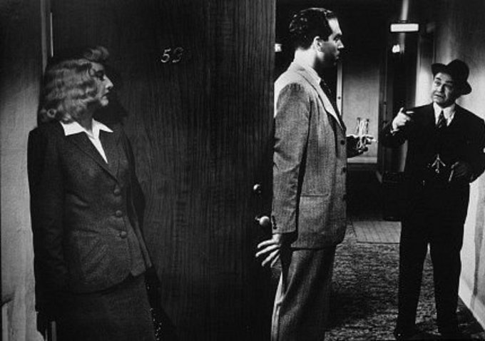 A famous moment from Double Indemnity (1944)