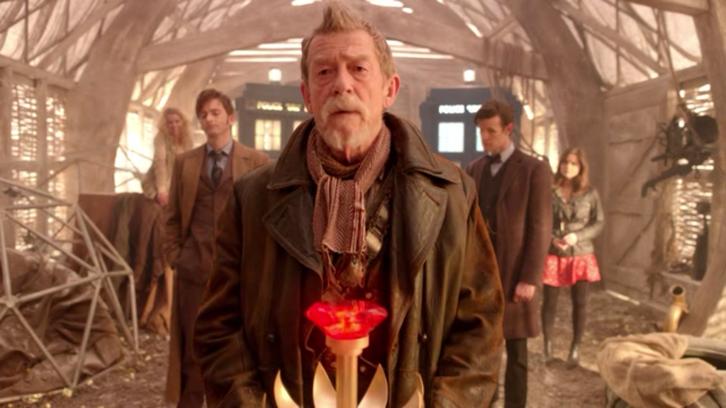 Surprisingly, nothing bursts out of John Hurt's chest. Not a single thing.