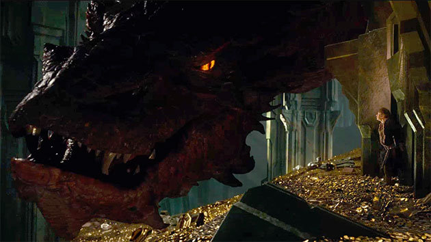 The impossibly enormous Smaug (Benedict Cumberbatch)