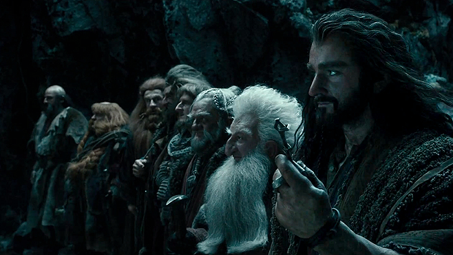 The Dwarves of The Hobbit, led by Thorin Oakenshield (Richard Armitage)