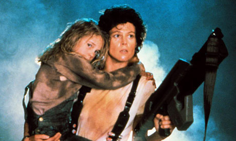 Ripley protecting Newt in Aliens.