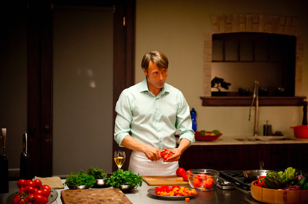 Hannibal (Mads Mikkelsen) prepares. Photo courtesy of Brooke Palmer and NBC/Sony.