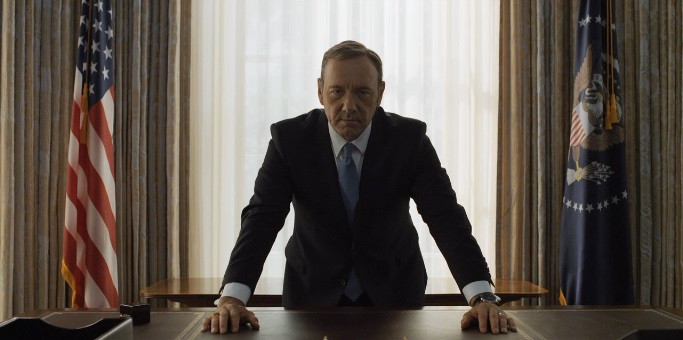 Frank Underwood stares into your soul.