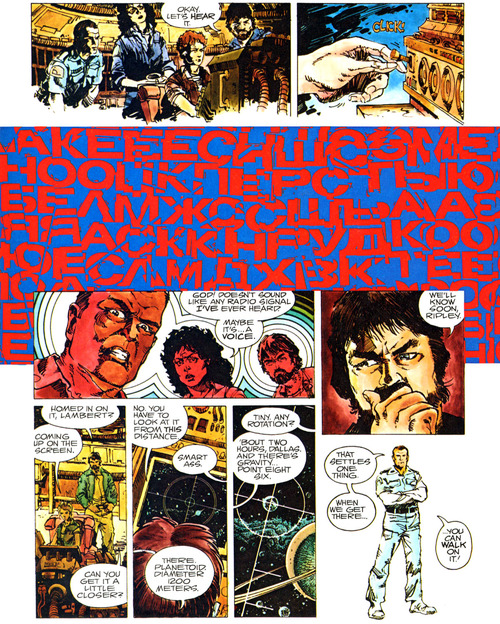 A page from Alien: The Illustrated Story. Art by Walter Simonson.