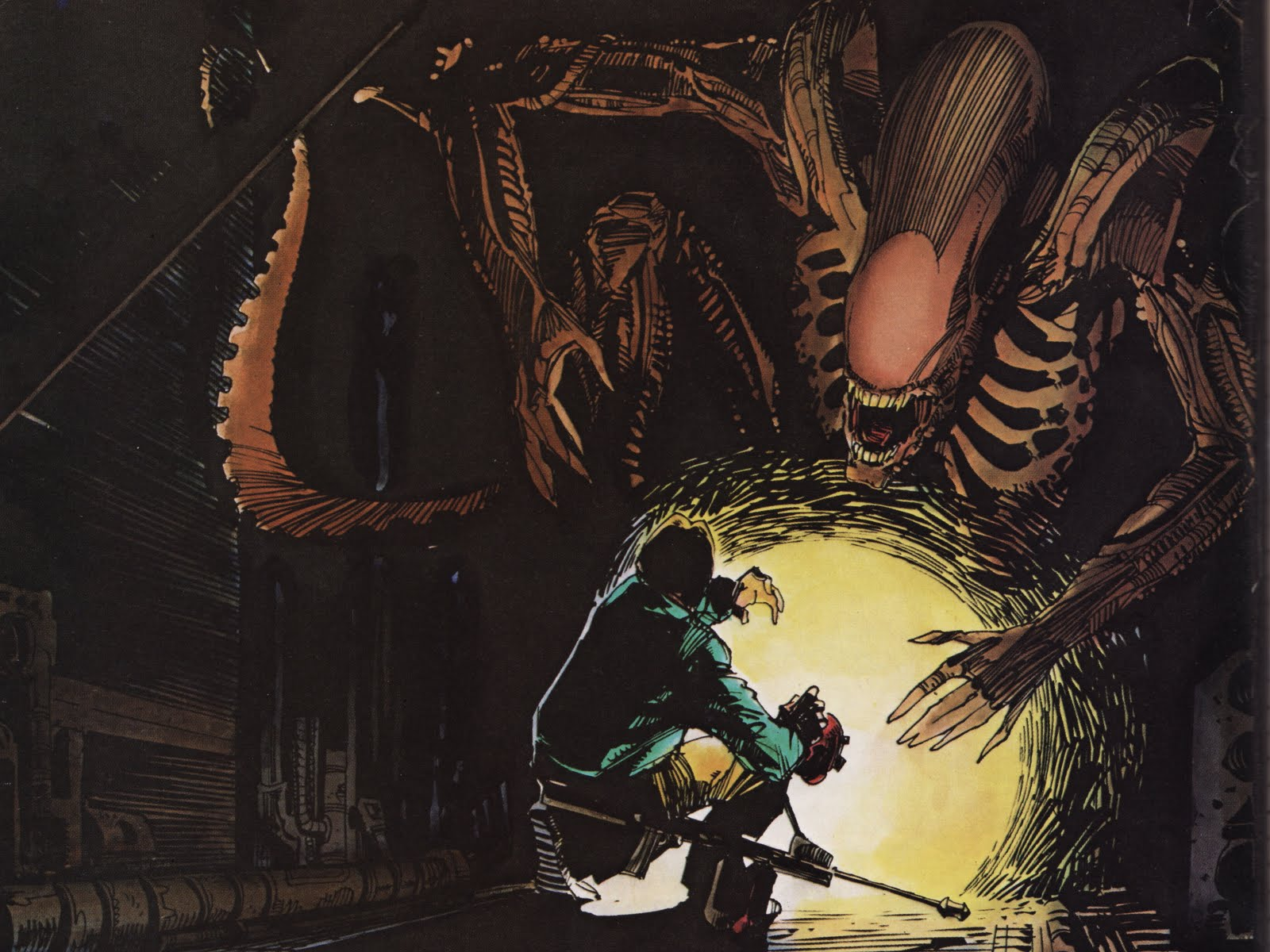 Page from Alien: The Illustrated Story. Art by Walter Simonson.