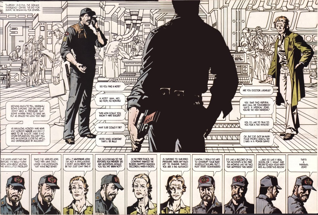 A page from Outland. Art by Jim Steranko.