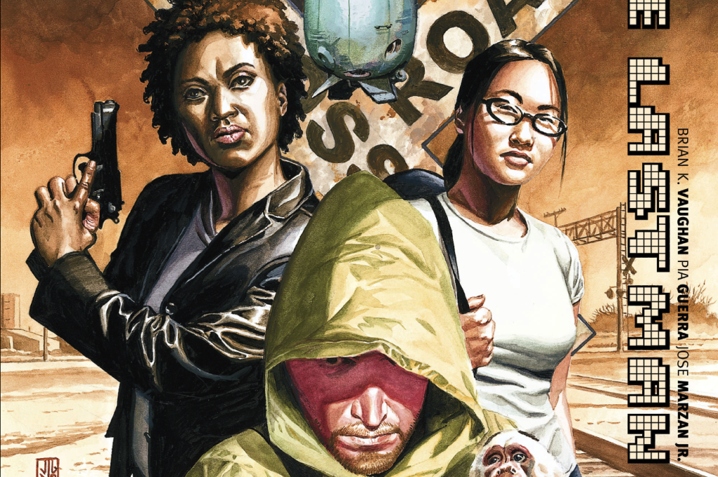 From the cover of Y: The Last Man #11, one of the many comics edited by Steve Bunche. (Art by JG Jones)
