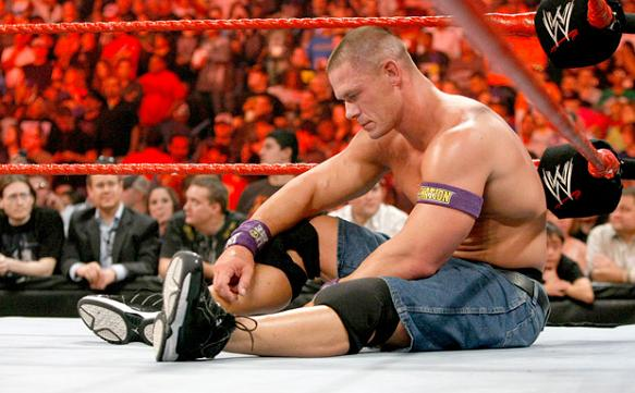 John Cena, probably wondering why Michael Bay calls The Rock, but not him.