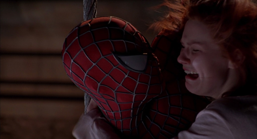 Spidey saves MJ a couple times, y'know how it is.