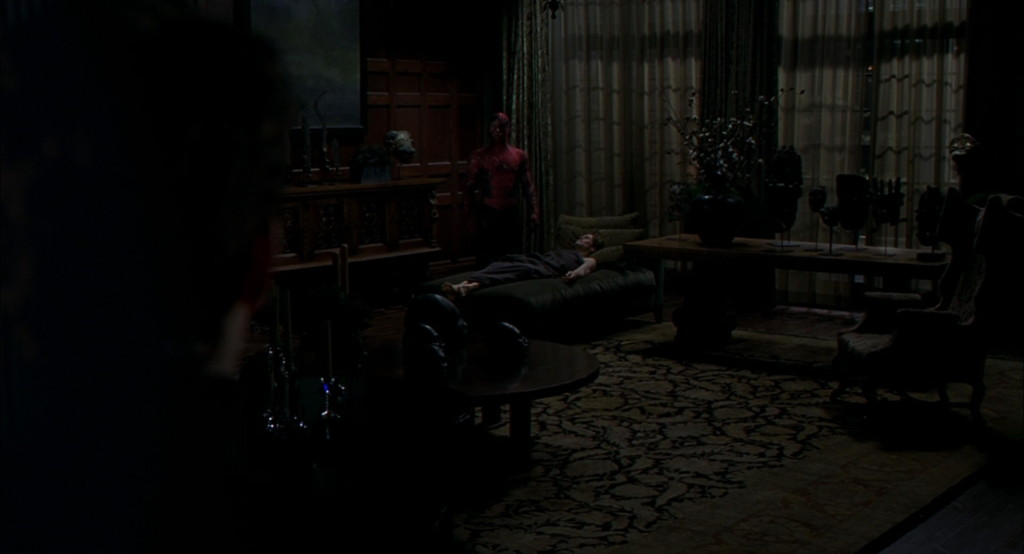 Spider-Man returns Norman Osborn's body home and ends up taking the rap for his self-inflicted death.