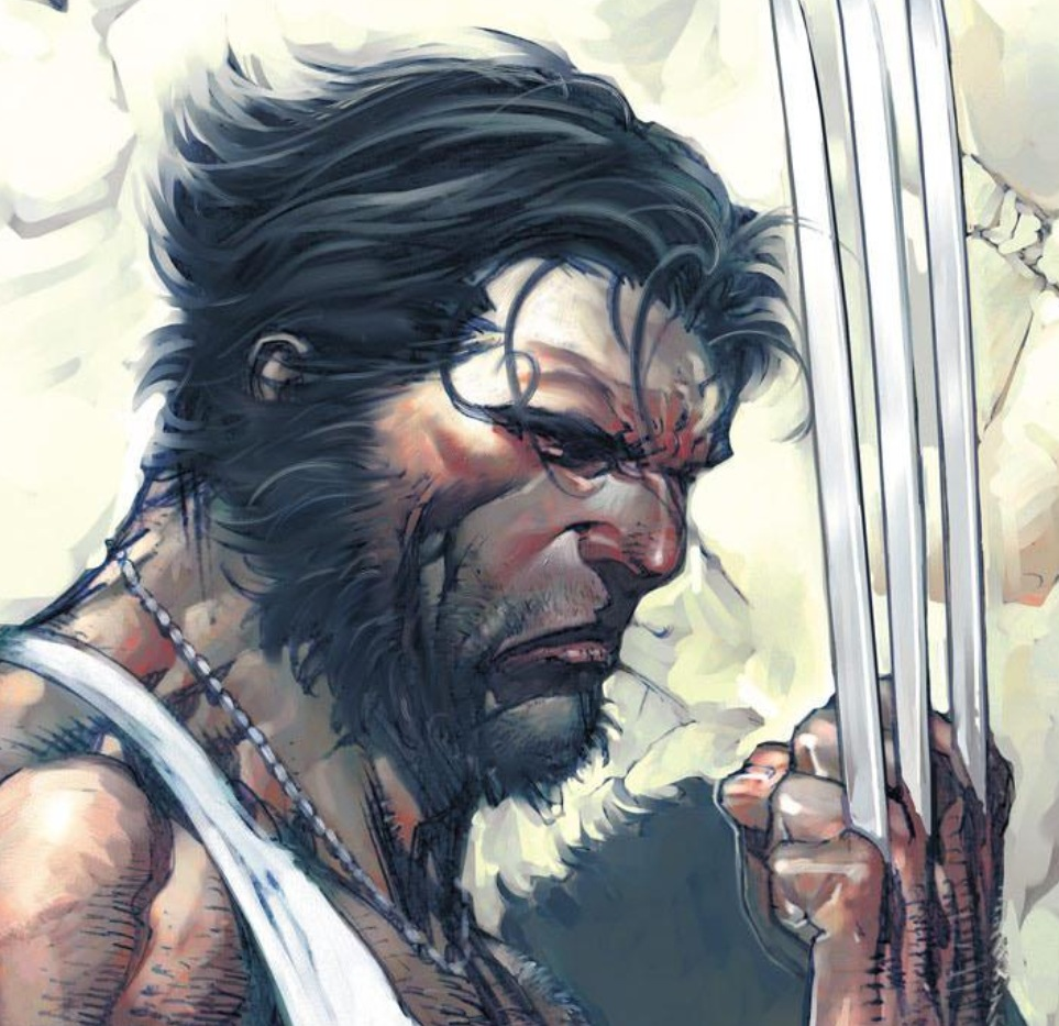 Superficial as it may seem, it was a bad sign when Ultimate Wolverine lost his goatee and started looking exactly like his 616 counterpart. (Art by David Finch, from the cover of Ultimate X-Men v.1 #35)