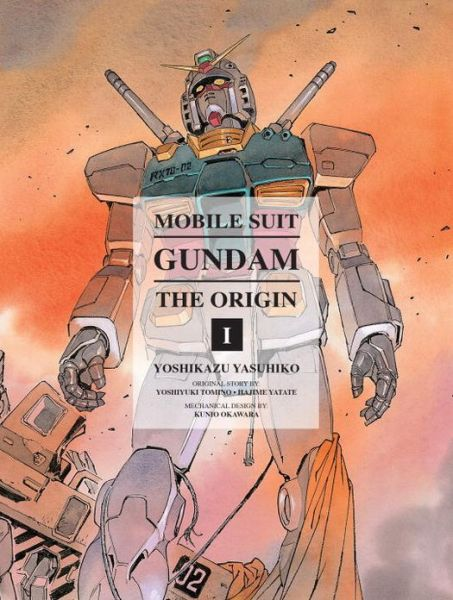 The cover to Mobile Suit Gundam: THE ORIGIN, Volume 1. Art by