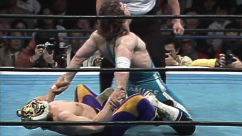 Tiger Mask I (there have been four) and Dynamite Kid in the first ever Five Star Match. (Source: WWE.com)