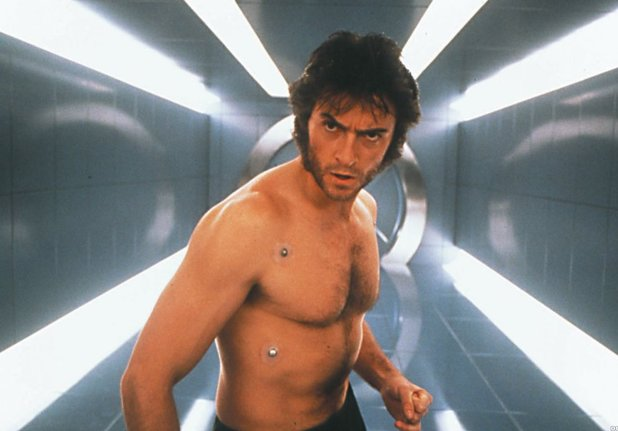 Wolverine (Hugh Jackman) in X-Men.