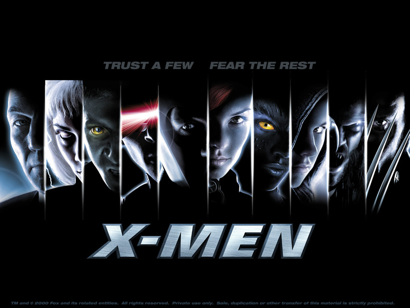 "Promotional poster for X-Men with the tagline ""Trust a few. Fear the rest."""