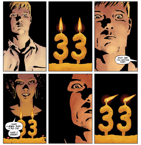The end of Fraction and Brubaker's Iron Fist story leaves tantalizing questions unanswered. Art by David Aja.