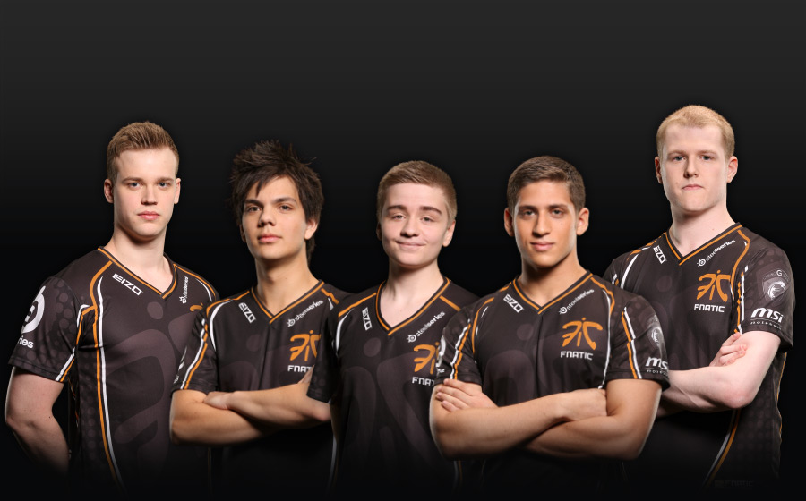 Fnatic from Left: H4nni, Era, N0tail, Fly, Trixi (source) http://wiki.teamliquid.net/dota2/Fnatic
