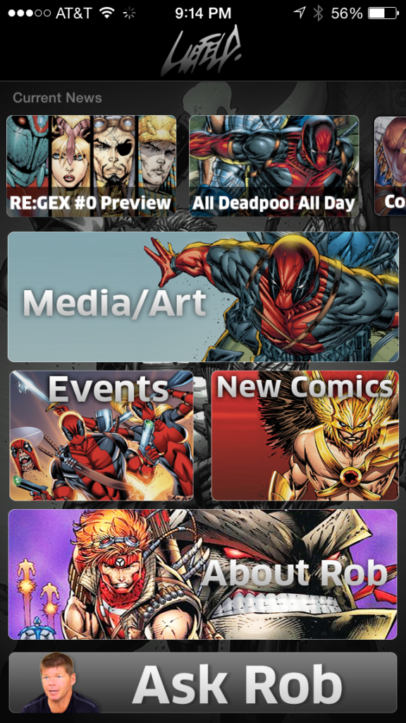 Rob Liefeld? There is, in fact, an app for that.