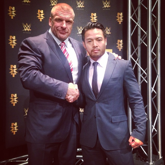KENTA, with Triple  H.