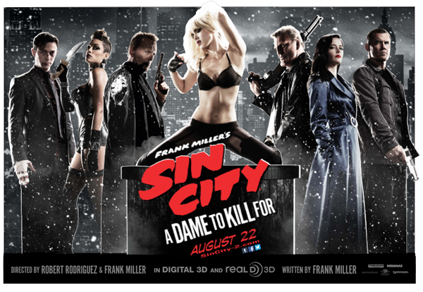 Joseph Gordon-Levitt, Rosario Dawson, Bruce Willis, Jessica Alba, Mickey Rourke, Eva Green & Josh Brolin make up Sin City's ensemble cast.