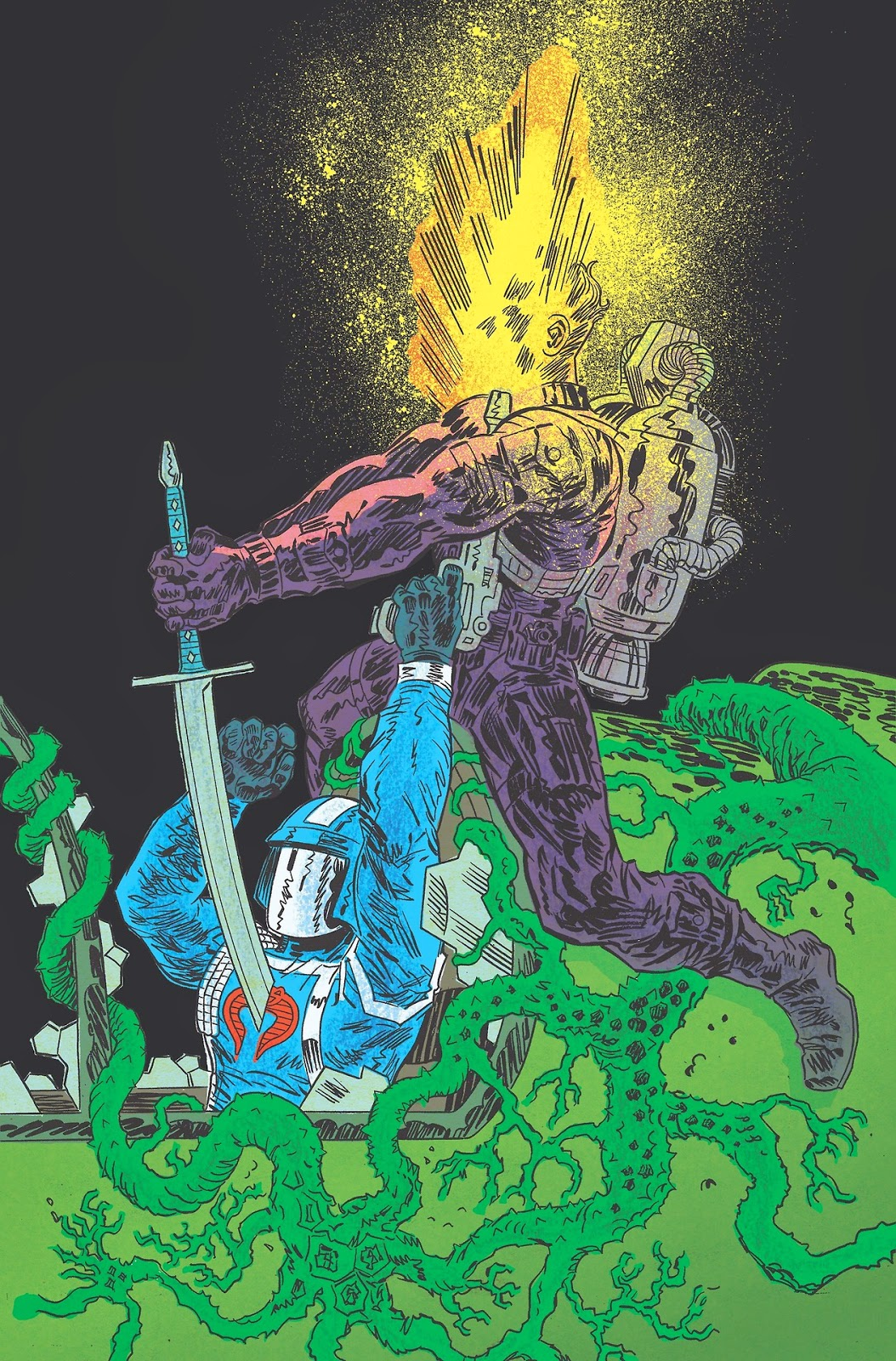 From Transformers vs. G.I. Joe #0. Art by Tom Scioli.
