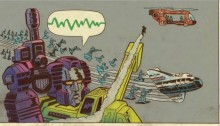 From Transformers vs. G.I. Joe #3. Art by Tom Scioli.