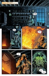 From Sleepy Hollow #1, with art by Jorge Coelho and Tamra Bonvillain. (click to expand)