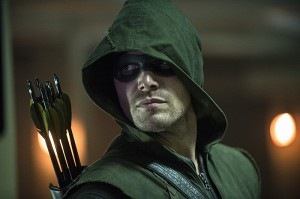 Stephen Amell as Arrow in last week's Season 3 premiere.