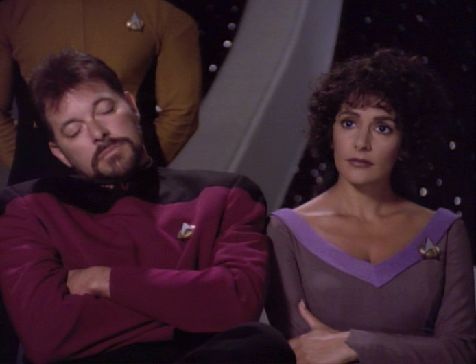Even Riker is bored sometimes.