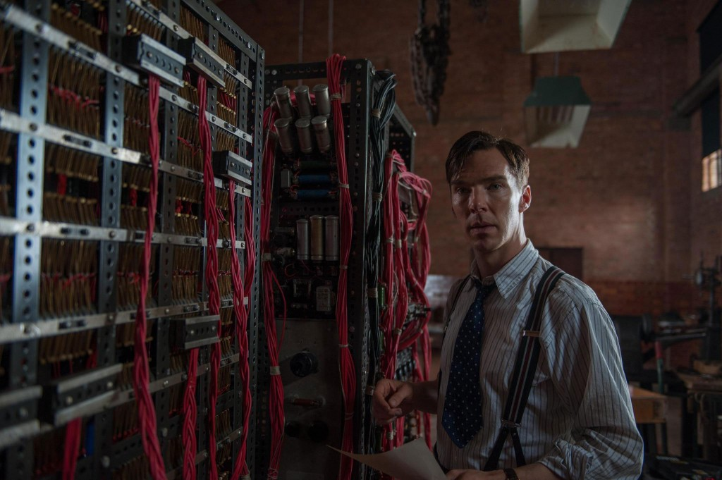 The stars of The Imitation Game: Benedict Cumberbatch and Christopher the codebreaking device.