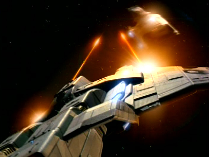 The Maquis typically traveled in badass Peregrine-class strike ships.