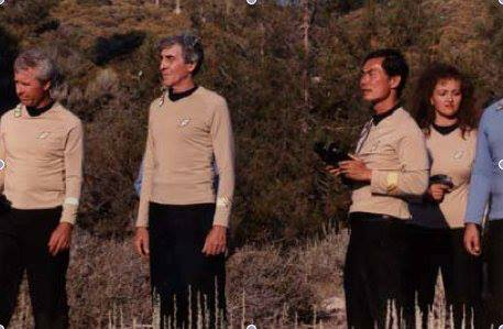 George Takei as Sulu (right) in an unfinished fan film.