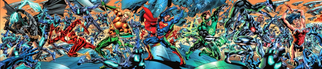 Justice League of America #1 By Bryan Hitch Inks by Daniel Henriques with Wade Von Grawbadger and Andrew Currie Colors by Alex Sinclair with Jeromy Cox Letters by Chris Eliopoulos DC Comics