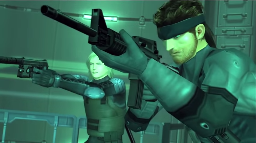 Our heroes, pretty boy Raiden and rugged adventurer Solid Snake.