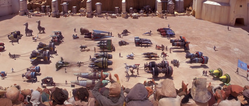 The Phantom Menace is not a good looking film, but it does have a lot of good looking stuff in it.