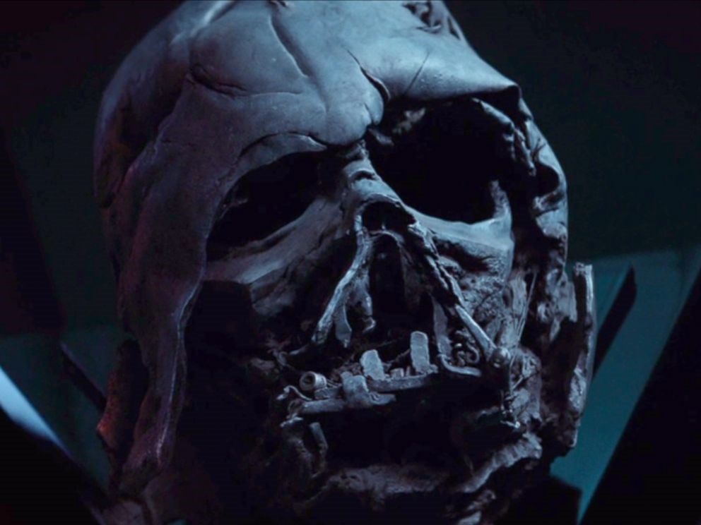 Darth Vader's helmet and skull