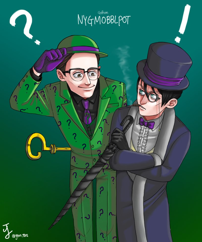 riddler_and_penguin_by_neoul-d8yg6ea