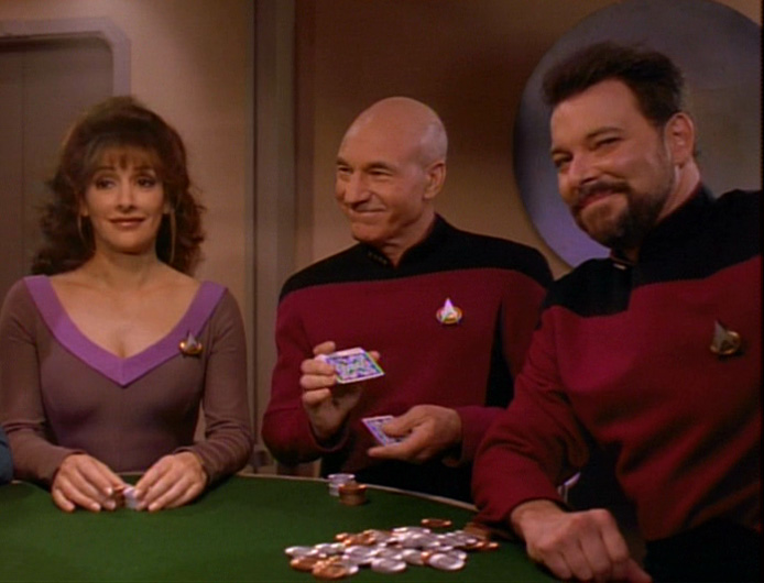 Picard joins the poker game.