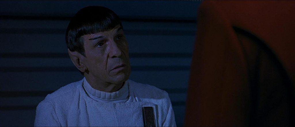 Spock, in The Undiscovered Country